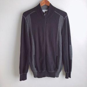Calvin Klein 100% Pima Cotton Zip Up Sweater